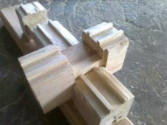 Брус деревянный разного калибра