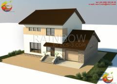 Двухэтажный Жилой Дом 188 м²