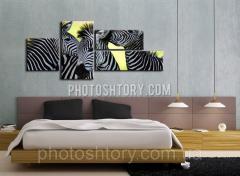 Модульная картина зебры 2037