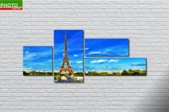 Картина модульная весна Париж 2068