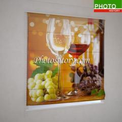 Римские фотошторы бокалы вина 5150