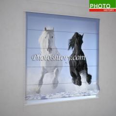 Римские фотошторы лошади на снегу 5142