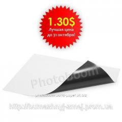 Магнитный винил для струйной печати, глянцевый, А4 - 297x210x0,3мм (1 лист)