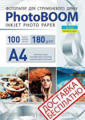 Фотобумага матовая 180 г/м2,  А4,  100...