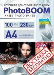 Фотобумага матовая 230 г/м2,  А4,  100...