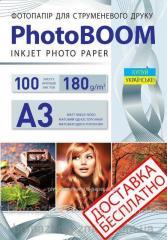 Фотобумага матовая 180 г/м2,  А3,  100...