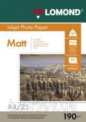 Двусторонняя матовая фотобумага для струйной печати, A4, 190 г/м2, 25 листов, код 0102036
