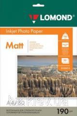 Двусторонняя матовая фотобумага для струйной печати, A4, 190 г/м2, 50 листов, код 0102015