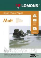 Двусторонняя матовая фотобумага для струйной печати, A4, 200 г/м2, 50 листов, код 0102033
