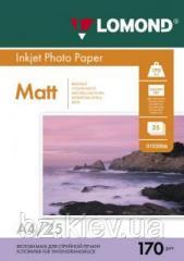 Двусторонняя матовая фотобумага для струйной печати, A4, 170 г/м2, 25 листов, код 0102032