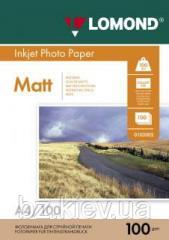 Двусторонняя матовая фотобумага для струйной печати, A4, 100 г/м2, 100 листов, код 0102002