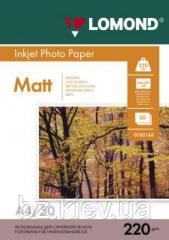 Двусторонняя матовая фотобумага для струйной печати, A4, 220 г/м2, 50 листов, код 0102144