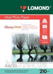 Двусторонняя глянцевая/матовая фотобумага для струйной печати, A4, 210 г/м2, 25 листов, код 0102047