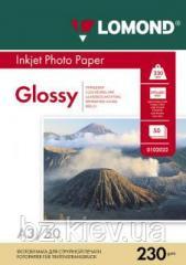 Односторонняя глянцевая фотобумага для струйной печати A3, 230 г/м2, 50 листов, код 0102025