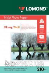 Двусторонняя глянцевая/матовая фотобумага для струйной печати A3+, 210 г/м2, 20 листов, код 0102027