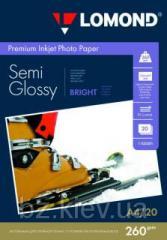 Полуглянцевая микропористая фотобумага для струйной печати, A4, 260 г/м2, 20 листов, код 1103301