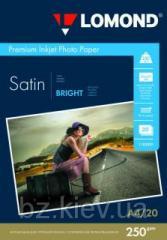 Атласная ярко-белая микропористая фотобумага для струйной печати, A4, 250 г/м2, 20 листов, код 1103201