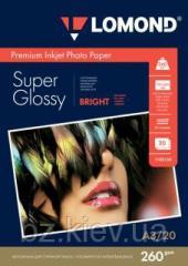 Суперглянцевая микропористая фотобумага для струйной печати, A3, 260 г/м2, 20 листов, код 1103130
