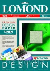 Односторонняя дизайнерская фотобумага Лен, 230 г/м2, А3, 20 листов, код 934032