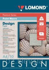 Односторонняя глянцевая дизайнерская бумага Пойнт Макро,A4, 230 г/м2, 10 листов, код 932041