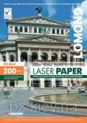 Двусторонняя матовая фотобумага для лазерной печати, 200 г/м2, А4, 250 листов, код 0300341