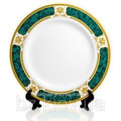 Тарелка с орнаментом Зеленый мрамор для сублимации, код GRW05.05.017/LCH