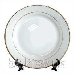 Тарелка с золотистой каймой для сублимации, код GRW05.05.013/LCH