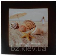 Плитка керамическая в рамке из натурального дерева (32х32 см), код GRW16.01.028/UA