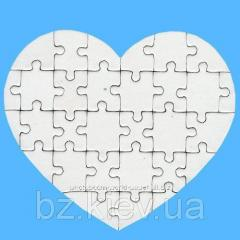 Заготовка пазла в форме Сердце ( 30 эл.), код GRW13.02.001/BZ