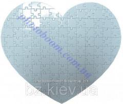 Заготовка пазла в форме Сердце (124 эл.) , код GRW13.02.002/PRM