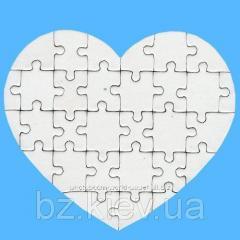 Заготовка пазла магнитного в форме Сердце ( 30 эл.), код GRW13.01.003/BZ