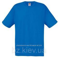 Футболка унисекс Original T для термотрансферной и прямой печати S, Королевский синий, код 061082051