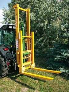 AGROPOL loader for handling works in gardens and