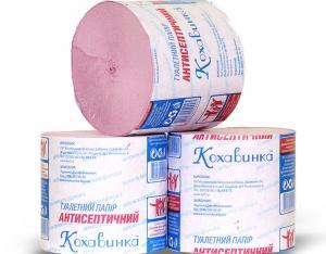 Antiseptic toilet paper