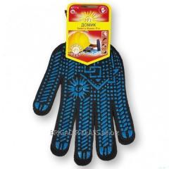 Перчатки Рубеж домик К 114 чёрные уп. 10 пар ,Модель  PR-04-01