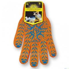 Перчатки Рубеж Солнце 106 оранжевые уп. 10 пар ,Модель  PR-03-02