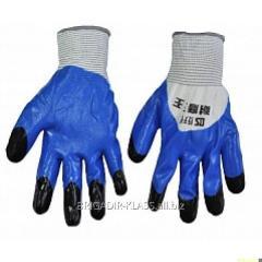Перчатки стрейчивые 909 синие. уп. 12 пар. ,Модель  P-15-1