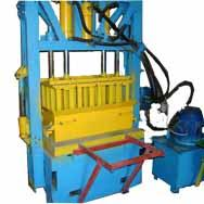 Hydraulic press for production of blocks, slag