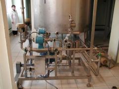 Установка для приготовления водки в потоке