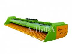Harvester for cleaning of sunflower of ZhSM