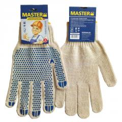 MasterOK gloves knitted with PVC W10-17 poin