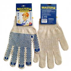 MasterOK gloves knitted with PVC W10-21 poin
