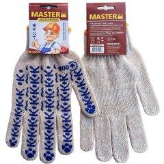 MasterOK gloves knitted with PVC W10-19 poin
