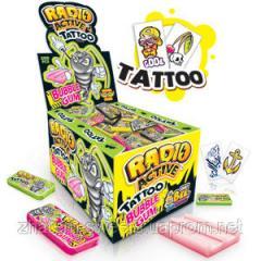 Жевачка JOHNY BEE® RadioActive Gum + Tattoo