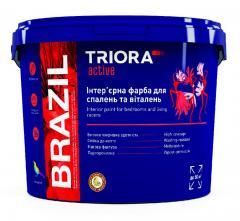 Интерьерная краска для спален и гостиных BRAZIL TM TRIORA active 10 л арт.3499