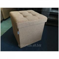 Folding padded stool of Mix Concepto beige with