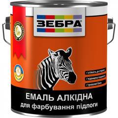 Эмаль ЗЕБРА для пола алкидная ПФ-266 арт.703