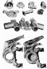 Casting from aluminium alloys (moulding)