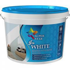 Краска Super Star для стен и потолков Ice WHITE, 7 кг, арт.2998