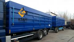 Body flatbed trailer under 80 cubic meters